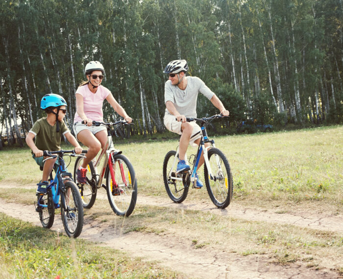 Sports,Family,Riding,Bicycles.,Father,,Mother,And,Son,With,Bikes